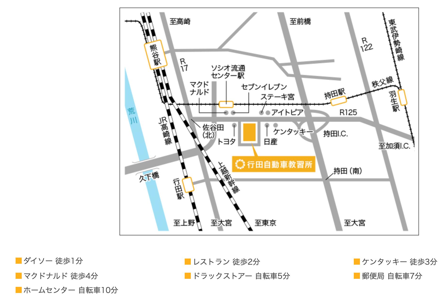 行田自動車教習所 埼玉