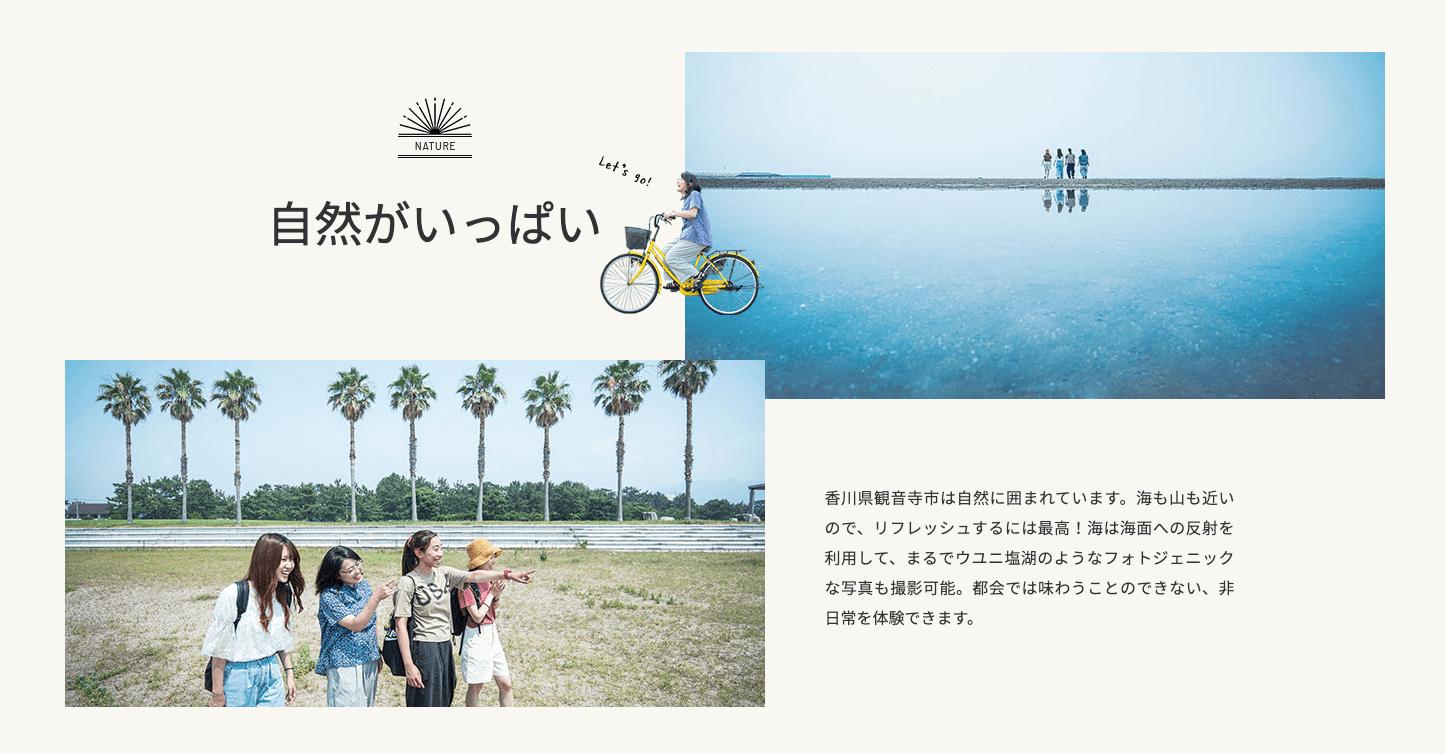 観音寺自動車学校 海が近い